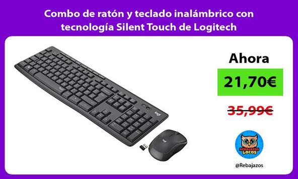 Combo de ratón y teclado inalámbrico con tecnología Silent Touch de Logitech