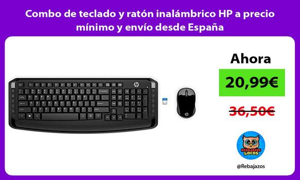 Combo de teclado y ratón inalámbrico HP a precio mínimo y envío desde España