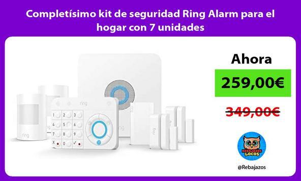 Completísimo kit de seguridad Ring Alarm para el hogar con 7 unidades