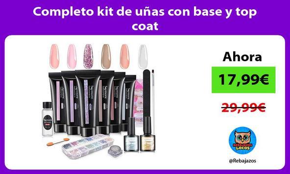 Completo kit de uñas con base y top coat