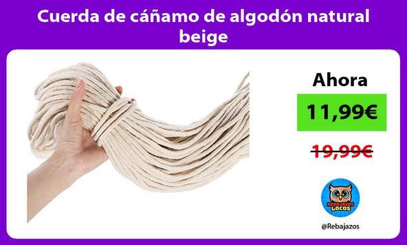 Cuerda de cáñamo de algodón natural beige