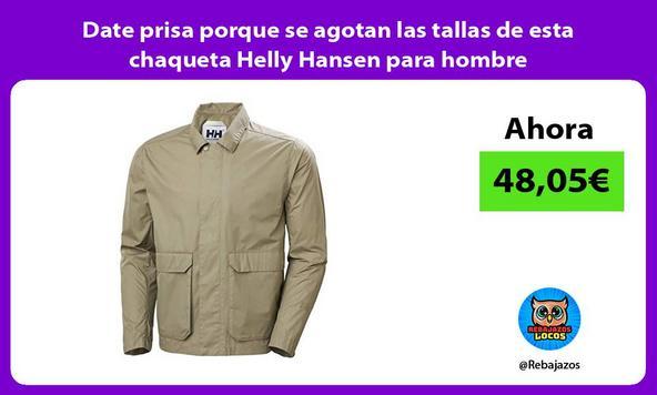 Date prisa porque se agotan las tallas de esta chaqueta Helly Hansen para hombre