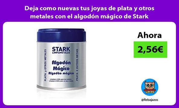 Deja como nuevas tus joyas de plata y otros metales con el algodón mágico de Stark