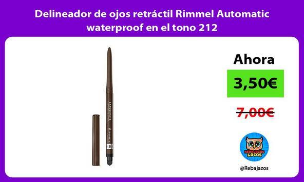 Delineador de ojos retráctil Rimmel Automatic waterproof en el tono 212