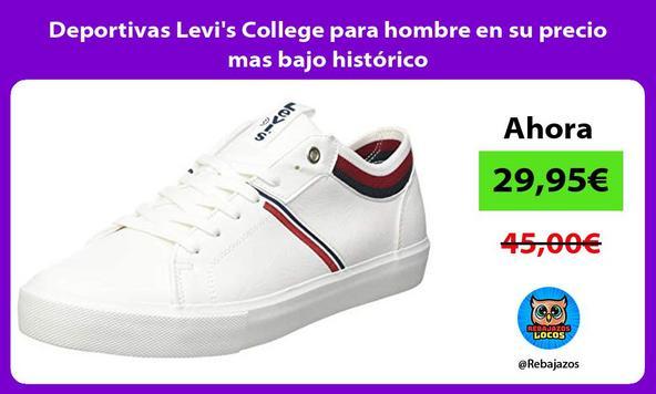 Deportivas Levi's College para hombre en su precio mas bajo histórico