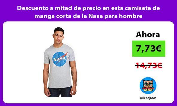 Descuento a mitad de precio en esta camiseta de manga corta de la Nasa para hombre