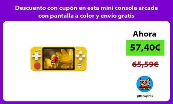 Descuento con cupón en esta mini consola arcade con pantalla a color y envío gratis