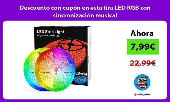 Descuento con cupón en esta tira LED RGB con sincronización musical