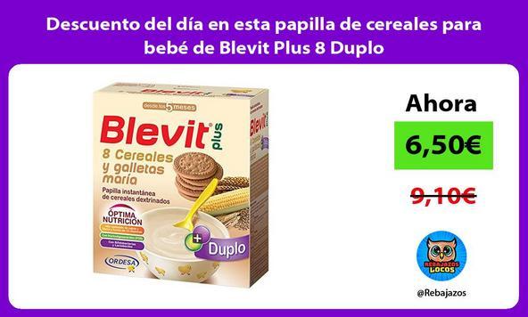 Descuento del día en esta papilla de cereales para bebé de Blevit Plus 8 Duplo