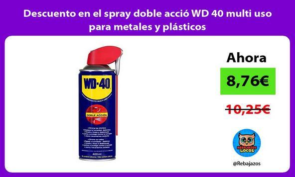 Descuento en el spray doble acció WD 40 multi uso para metales y plásticos