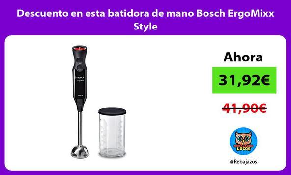 Descuento en esta batidora de mano Bosch ErgoMixx Style