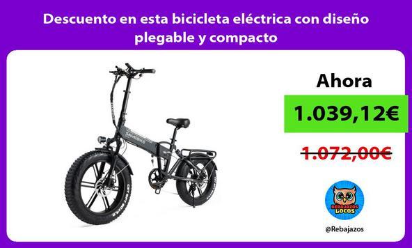 Descuento en esta bicicleta eléctrica con diseño plegable y compacto