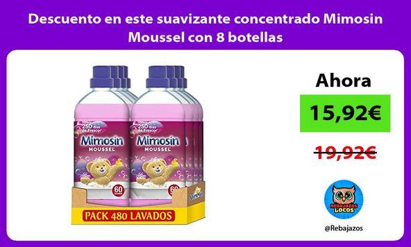Descuento en este suavizante concentrado Mimosin Moussel con 8 botellas