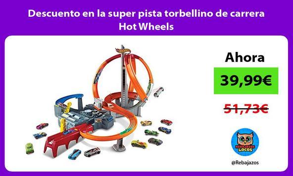 Descuento en la super pista torbellino de carrera Hot Wheels