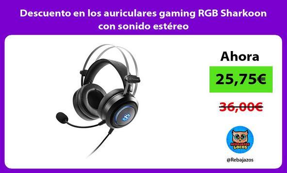 Descuento en los auriculares gaming RGB Sharkoon con sonido estéreo