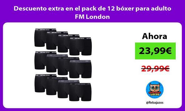 Descuento extra en el pack de 12 bóxer para adulto FM London