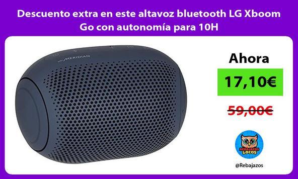 Descuento extra en este altavoz bluetooth LG Xboom Go con autonomía para 10H