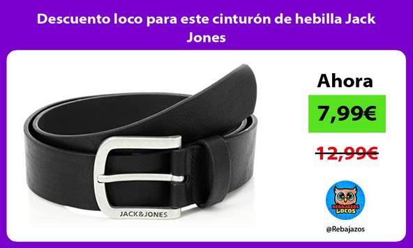 Descuento loco para este cinturón de hebilla Jack Jones