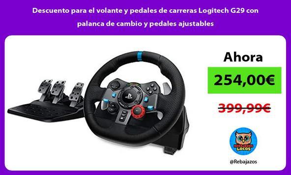 Descuento para el volante y pedales de carreras Logitech G29 con palanca de cambio y pedales ajustables