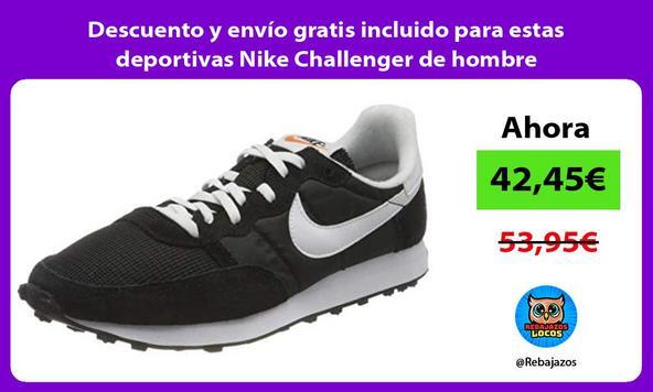 Descuento y envío gratis incluido para estas deportivas Nike Challenger de hombre