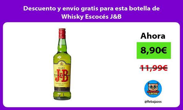 Descuento y envío gratis para esta botella de Whisky Escocés J&B
