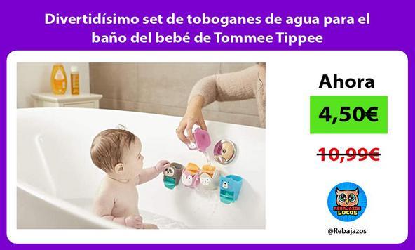 Divertidísimo set de toboganes de agua para el baño del bebé de Tommee Tippee