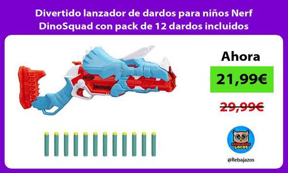 Divertido lanzador de dardos para niños Nerf DinoSquad con pack de 12 dardos incluidos