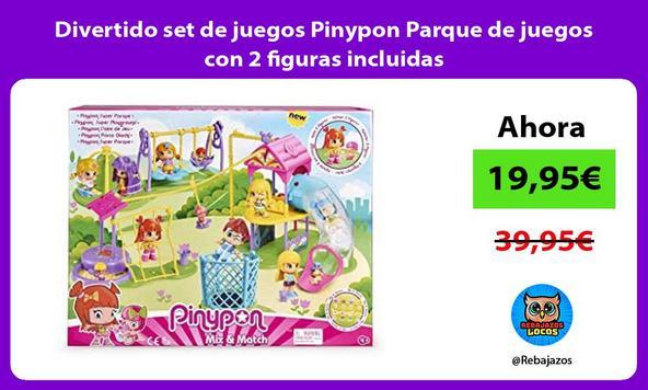 Divertido set de juegos Pinypon Parque de juegos con 2 figuras incluidas