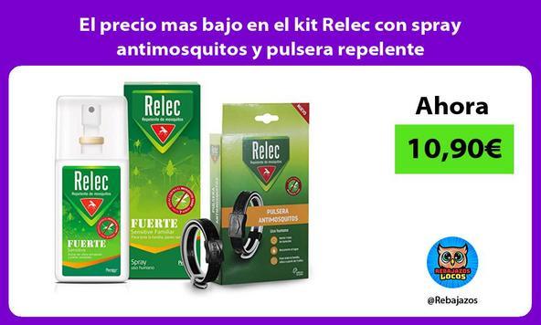 El precio mas bajo en el kit Relec con spray antimosquitos y pulsera repelente