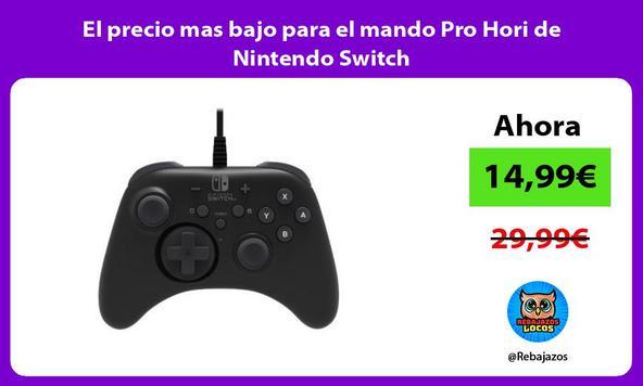 El precio mas bajo para el mando Pro Hori de Nintendo Switch