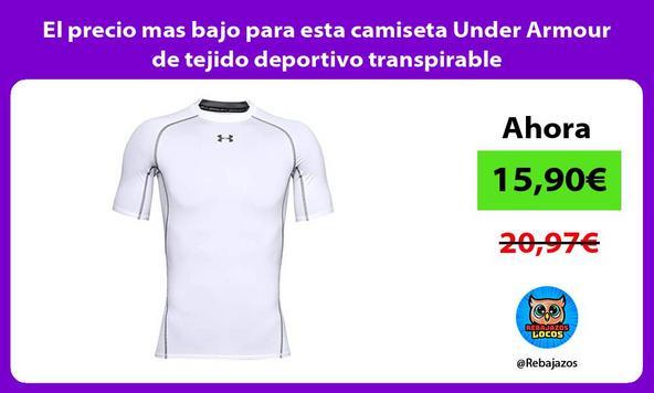 El precio mas bajo para esta camiseta Under Armour de tejido deportivo transpirable