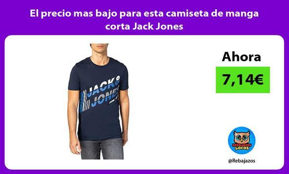 El precio mas bajo para esta camiseta de manga corta Jack Jones