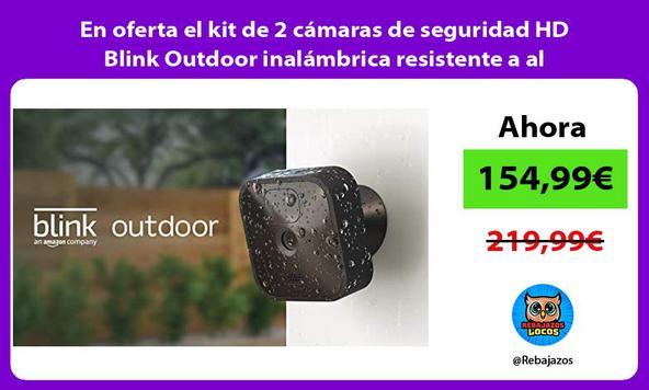 En oferta el kit de 2 cámaras de seguridad HD Blink Outdoor inalámbrica resistente a al intemperie