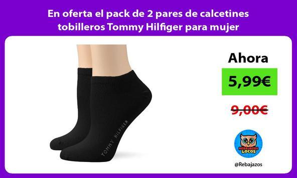 En oferta el pack de 2 pares de calcetines tobilleros Tommy Hilfiger para mujer
