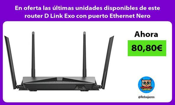 En oferta las últimas unidades disponibles de este router D Link Exo con puerto Ethernet Nero