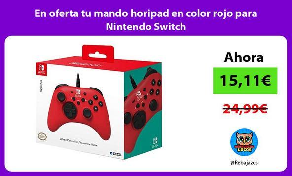 En oferta tu mando horipad en color rojo para Nintendo Switch
