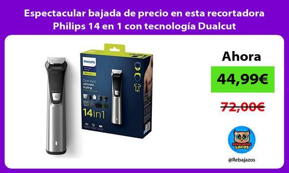 Espectacular bajada de precio en esta recortadora Philips 14 en 1 con tecnología Dualcut