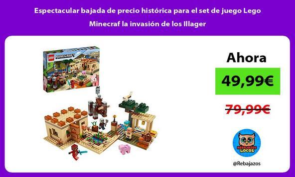 Espectacular bajada de precio histórica para el set de juego Lego Minecraf la invasión de los Illager