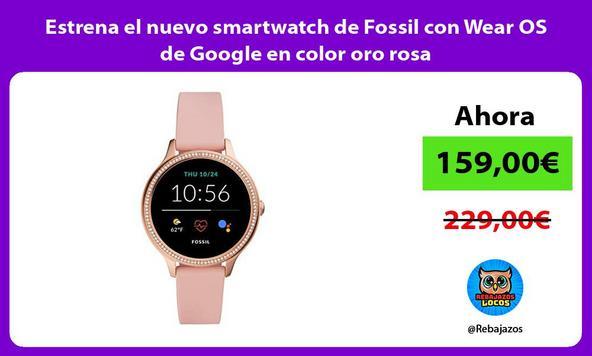 Estrena el nuevo smartwatch de Fossil con Wear OS de Google en color oro rosa