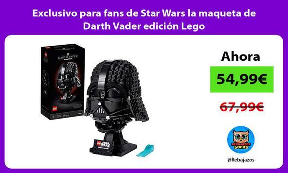 Exclusivo para fans de Star Wars la maqueta de Darth Vader edición Lego