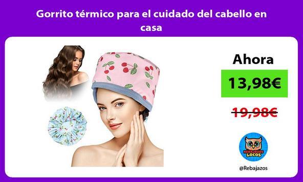 Gorrito térmico para el cuidado del cabello en casa
