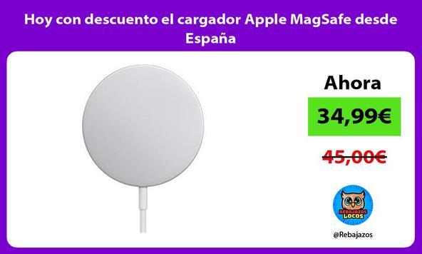 Hoy con descuento el cargador Apple MagSafe desde España
