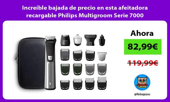 Increíble bajada de precio en esta afeitadora recargable Philips Multigroom Serie 7000