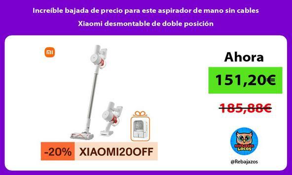 Increíble bajada de precio para este aspirador de mano sin cables Xiaomi desmontable de doble posición