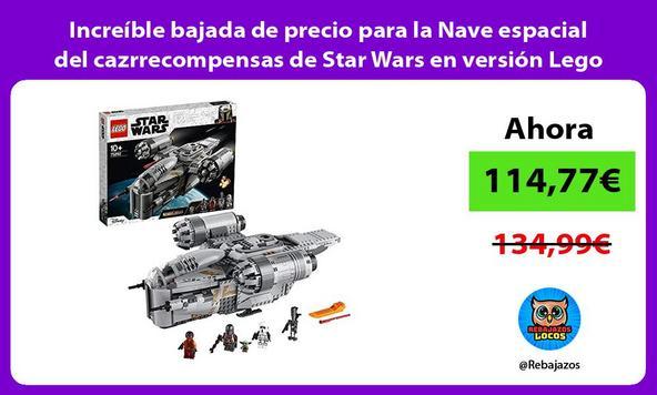 Increíble bajada de precio para la Nave espacial del cazrrecompensas de Star Wars en versión Lego