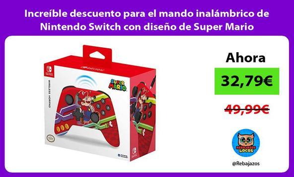 Increíble descuento para el mando inalámbrico de Nintendo Switch con diseño de Super Mario