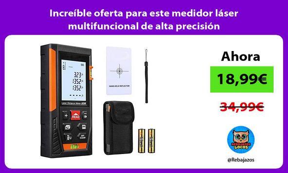 Increíble oferta para este medidor láser multifuncional de alta precisión