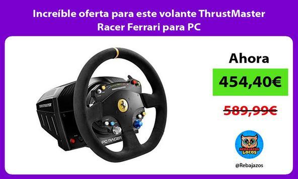 Increíble oferta para este volante ThrustMaster Racer Ferrari para PC