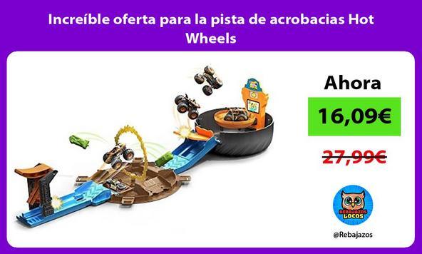 Increíble oferta para la pista de acrobacias Hot Wheels