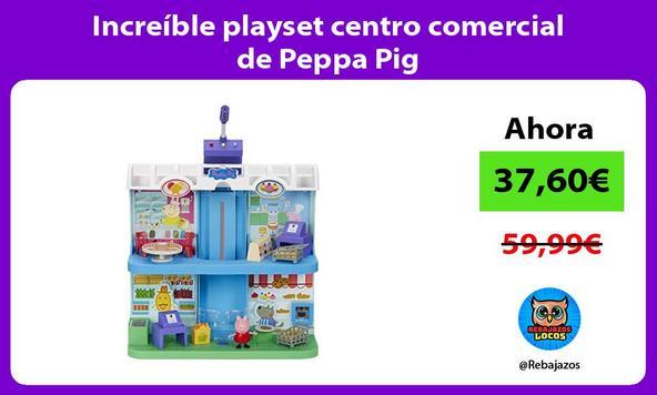 Increíble playset centro comercial de Peppa Pig